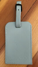 Authentic Rimowa Leather Luggage Tag Silver Gray