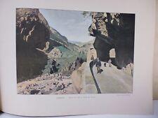 Suisse: Gravure 19° in folio couleur /Autre site sur la Route de Grimsel