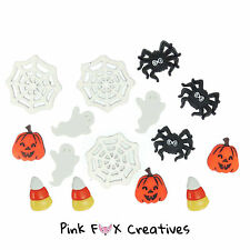 THINGS THAT GO BOO! DRESS IT UP NOVELTY CRAFT BUTTONS HALLOWEEN GHOST SPIDER WEB