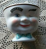 BAILEYS Irish Cream YUM Winking Face Coffee CUP Mug Man Green BOW TIE 1996