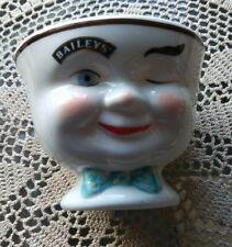 BAILEYS Irish Cream YUM Winking Face Coffee CUP Mug Man Green BOW TIE 1996