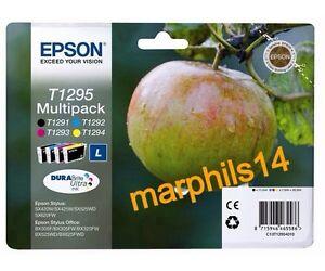 EPSON T1295 Genuine INK CARTRIDGES (T1291 T1292 T1293 T1294) - ORIGINAL!!