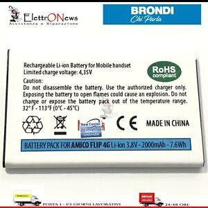 BATTERIA PER BRONDI AMICO FLIP 4G Batteria Amico Flip 4G di Qualità