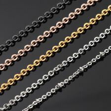 Edelstahl Ankerkette Halskette Damen silber gold rosegold schwarz 1-4mm 38-120cm