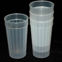 6 Large 32 Ounce Natural Fluted Tumblers Made in America Lead Free No Bpa