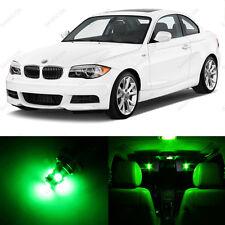 6 x Green LED Interior Light Package For 2008- 2013 BMW 128i 135i E82 E85 E86 1M