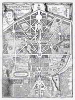 MAP ANTIQUE PALACE PLAN DE FER VERSAILLES PARK GARDENS ART PRINT POSTER HP1443