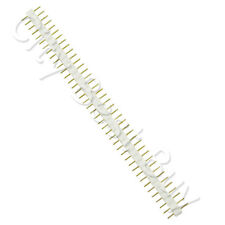 100 Male White 40 Round Pins PCB Single Row 2.54mm Pitch Spacing Header Strip