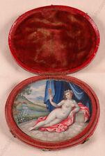 """Portrait of Lady as Venus"", German Erotic Miniature, 1st Half of 18th Century"
