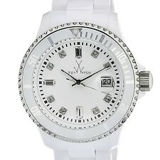 New Ladies Toy Watch PCLS02WH White Plasteramic Date Bracelet Lightweight Watch