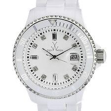 New Ladies Toy Watch PCLS02WH White Plasteramic Date Bracelet Lightweight Watch