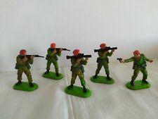 BRITAINS DEETAIL WWII ARMEE  BERET ROUGE ensemble de 5 personnages