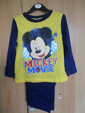 Mickey Mouse Boys Pyjamas Aged 2-3 Years Long Sleeves and Legs