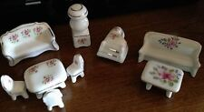 Dollhouse Mixed LOT Vintage Porcelain China Floral Detailed Miniature Furniture!