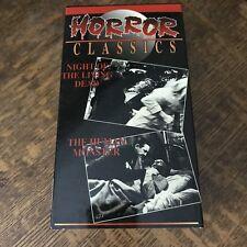 2-TAPE SET - NIGHT OF THE LIVING DEAD (1968) & THE HUMAN MONSTER (1939) horror
