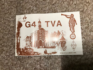 Radio Collectible QSL Card From G4TVA
