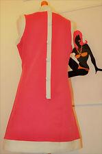 """MOD Scooter 1960s stile Vintage """"Dusty"""" vestito di Pop Boutique, Rosa Caldo 10-12"""