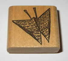 Butterfly Rubber Stamp Origami Paper Wood Mounted Butterflies Insects Crafts