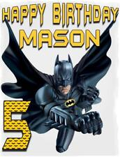 BATMAN #9 Personalized BIRTHDAY T-SHIRT Any Name & Age Printed SUPER HERO