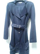 Trench coat bleu avec drapé Extenzo Paris. Taille 38
