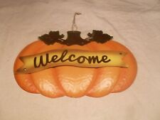 Décor Pumpkin Shape Welcome Sign