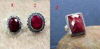 Ruby Gemstone Designer Handmade Ring 925 Sterling Silver Jewelry MR2017