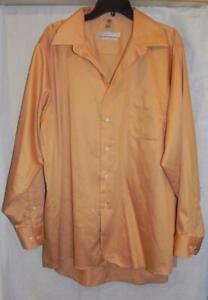 GW- Men's Regular Fit Dress Shirt from Geoffrey Beene - Gold - 17 1/2- 34/35