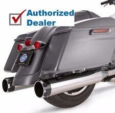 """S&S Chrome Mk45 4.5"""" Slip-On Mufflers Thruster Black End Caps Tip Harley Touring"""