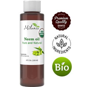 Premium Organic Neem Oil Virgin, Cold Pressed, Unrefined 100% Pure Natural Grade