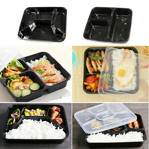 Meal Prep Food Containers BPA Free Plastic Lunch Box Lids Reusable Microwavable*