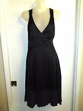 bebe S Black Marilyn Monroe Dress Punge V-Neck Pleated Open Back Cocktail Party
