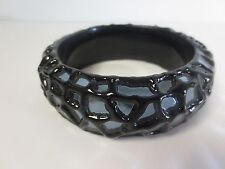 Pono by Joan Goodman Black MIrror Rock Bangle Bracelet NWOT $195