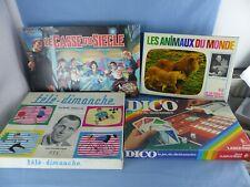 Lot anciens jeux de société TELE DIMANCHE ANIMAUX DU MONDE LE CASSE DU SIECLE