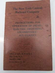 New York Central Railroad Company Operating Instructions 1947 Switching DEs-4