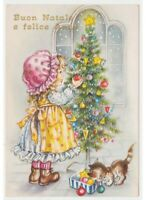 Card Supplies Girl Vintage 80s Skelly Cat Christmas Tree Decorations