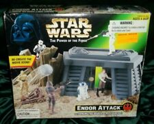 1997 Kenner Star Wars Power of The Force Endor Attack Playset Potf2