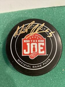 Nick Lidstrom Signed Farewell to the Joe Game Puck- Detroit Red Wings JSA COA