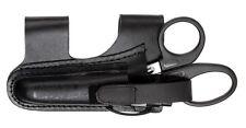 """Black Leather Horizontal Holster EMT EMS 7.50"""" Scissors Shears Penlight New"""
