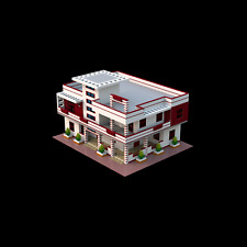 Lego Custom Instruction MODERN HOUSE ( instruction only)