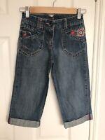 Minoti Girls Embroidery Crop Jeans