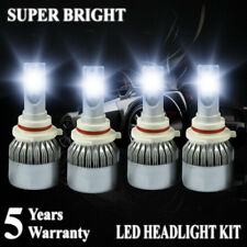 9006 HB4 + 9005 HB3 LED Headlight Bulbs 4000W 600000LM Hi/Lo Beam Headlamp 6000K
