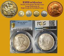 Canada 1935 Dollar, Superb Gem BU, PCGS 65+,Full Luster, Sharp Detail, Beauty.