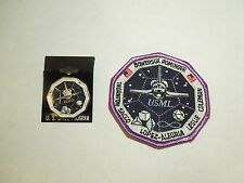 Lot of 2 NASA Space Shuttle Mission STS-73 USML Columbia Iron On Patch & Pin