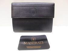 Portafoglio donna MASERATI | VERA PELLE | Genuine leather wallet woman | Cartera