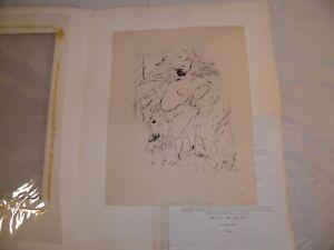 "Marcel Vertes Hungary 1895 Original Drypoint 1930 ""les Aventures du roi Pausole"""