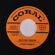 JOHNNY BURNETTE TRIO: Rock Billy Boogie / If You Want It Enough 45 (repro)