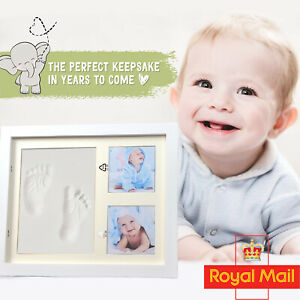 Baby Hand & Foot Print Clay Cast Kit Picture Frame Christening Baby shower Gift