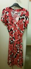 NEW Leona Edmiston Autumm Carnation self tie swing dress, size 12 RRP $139.95