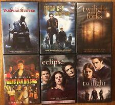 6 Vampire DVDs Hunter Eclipse Twilight van Helsing