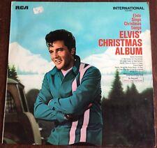 ELVIS' CHRISTMAS ALBUM,1963,RARE VINTAGE LP 33,ALBUM.EXCELLENT CONDITION.